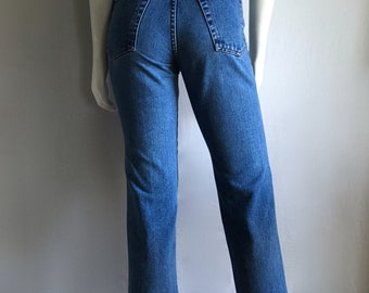 Vintage Women's 90's Jay Jacobs Jeans, Blue, High Waisted, Denim (S)