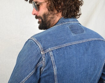 Vintage 80s Cactus Dark Wash Denim Jacket Coat