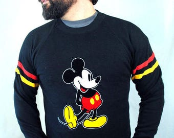 Rare Vintage Mickey Mouse Ringer Sweatshirt