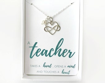 Personalized Teacher Jewelry - Gift From Students - End of School Teacher Gift - Preschool Teacher Gift - High School Teacher Gift