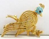 Vintage BSK Bird of Paradise Brooch Pin (B-2-1)