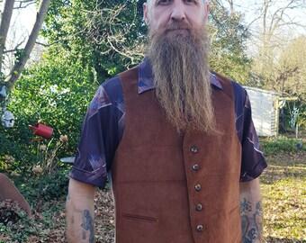 Mens 70s Vest, Corduroy Vest, 70s Costume, Brown Vest, Vintage Vest by Levis Panatella Size L