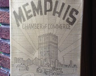 Memphis Power House of Progress original painting on canvas