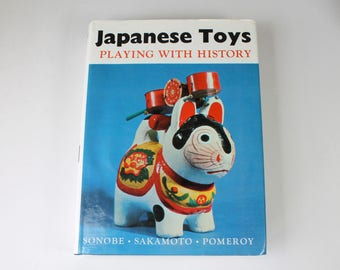Vintage Book Japanese Toys Playing With History Japanese Folk Toy Reference Book Black and White Photo Illustration Japanese Art Book 1965