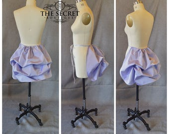 purple bustle-light purple-lilac bustle-tie on bustle-one size fits most-renaissance-spring-steampunk-goth-the secret boutique-ready to ship