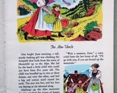 Heidi by Johanna Spyri Vintage 1950s 50s girl's children's illustrated book The Golden Picture Classics UK 1956 colour drawings Swiss Alps