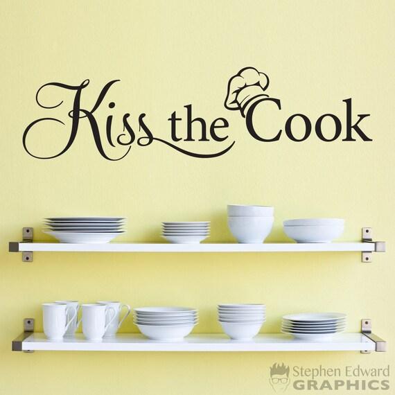 Der Koch Küche Dekor Aufkleber Koch Wandtattoo zu küssen