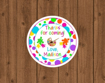 Art Party Favor Tag, Art Birthday Party Favor Tag, Girls Birthday Party, Art Birthday