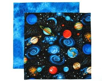 Outer Space Napkin, Kids Cloth Napkin, Boys Lunch Napkin, 1 double sided Fabric Kids Napkin for Boys