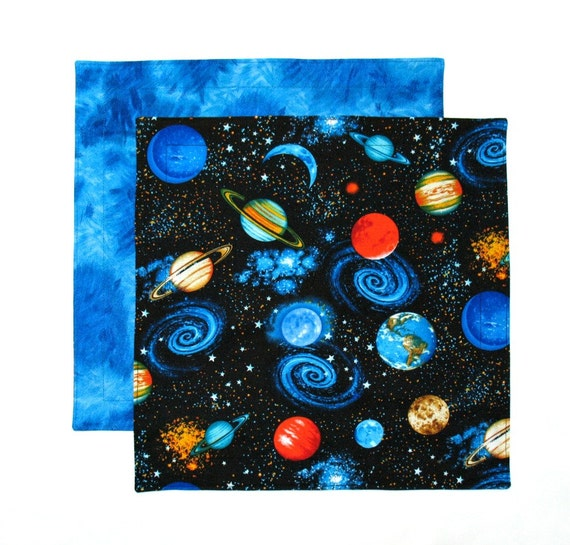 Outer space napkin kids cloth napkin boys lunch napkin 1 for Kids space fabric