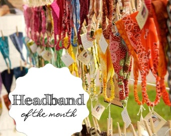 Headband of the Month Assorted Styles of Head Wrap Monthly Subscription Gift for Her Gift Idea for Mom S M L