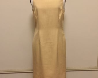 Vintage Oleg Cassini Canary Yellow Shift Dress - Jackie O