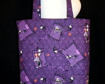 Nightmare Before Christmas Tote Bag - Jack & Sally Bag - The Pumpkin King