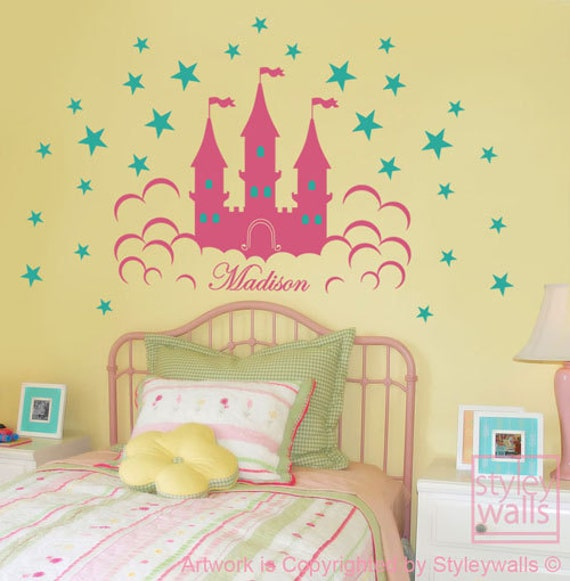 Castle Wall Decal Fairy Princess Castle Personalized Wall