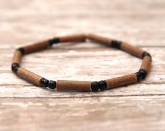 Hazelwood Bracelet, eczema heartburn acid reflux relief, natural beaded bracelet, kids, adults
