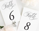 Garden Elegance Table Numbers - 5x7""
