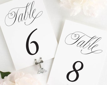 """Garden Elegance Table Numbers - 5x7"""""""