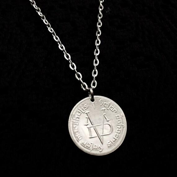 Silver Valar Morghulis Necklace Coin Of The Faceless Man A