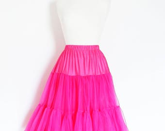 Hot Pink Swing Petticoat - Soft - Two Layer - Fifties Petticoat - Tulle - Wedding - Retro - Swishy