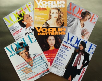 Vogue Patterns Magazines All 6 Issues from 1992 in 1 Lot  Great Fashion Photography, Illustrations, and Ads