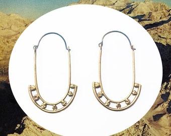 Ancient Hoop earrings  |  Handsculpted hoops cast in recycled bronze