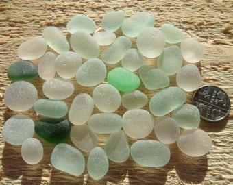 40 JQ Seaham Beautiful English Sea Glass- Free Shipping (5228)
