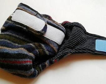 LARGE Wool Diaper Cover - Velcro - Wool Soaker - Wool Cover - Wool Wrap - 100% Wool - Cloth Diaper Cover
