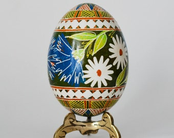 Pysanka egg with cornflower personalize  egg for mom sister friend wonderful Easter gift something special for Mother's day ship gift to mom