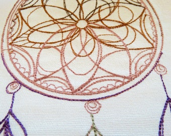Dreamy Ombre Delicate Dreamcatcher Embroidered Kitchen Towel Proceeds To Charity