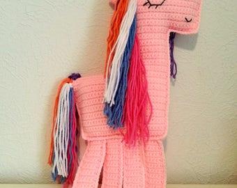 Pink Ragdoll Unicorn, Crochet Unicorn, Crochet Ragdoll, Unicorn Stuffed Animal Plush