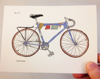 Blue Schwinn Print