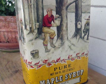 Maple Syrup Can Vintage New England Americana