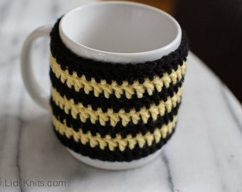 Bee Mug or Cup Cozy - Hand Crochet