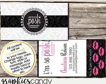 Perfectly Posh Independent Consultant Business Card Design - Business Cards - Multi Level Marketing - MLM - Free Shipping USA ONLY!
