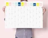 2017 Colour Year Wall Calendar Year Planner