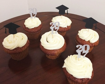 Happy Graduation 2017 Cap Cupcake Toppers