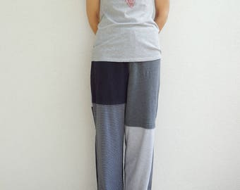 T Shirt Pants Womens Clothing Women's Pants Unisex Pants Small Medium Lounge Pants Cotton Pants Handmade Pants ohzie