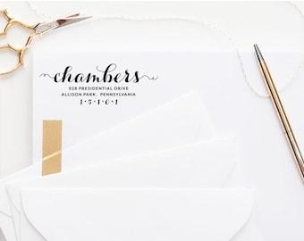 Return Address Stamp, Custom Address Stamp, Self Inking Stamp, Monogram Stamp, Wedding Gift, Rubber Stamp, Personalized, Wedding Address