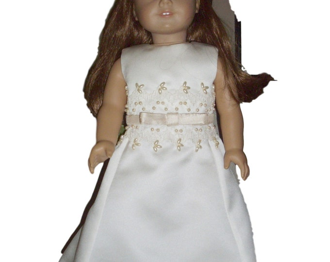 Custom order Flower Girl designs sized to fit 18 inch dolls