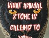 Custom Animal TOTEM STONE, Hand Painted Stones, Wildlife Art, Animal Rocks, Commissioned Paintings, Painted Beach Stones, Spirit Animals