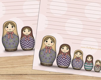 Matryoshka - A5 Stationery - 12, 24 or 48 sheets