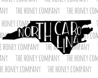 North Carolina SVG PNG DXF State Outline Instant Download Silhouette Cricut Cut Files Cutting Machine