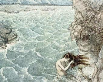 Fair Ligea, Arthur Rackham, Vinatge Art Print