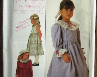 Vintage 1980s Little Girls Dress, Petticoat or Sundress and Unlined Coat Size 4 Simplicity Pattern 8191 UNCUT