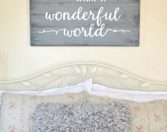 What a wonderful world reclaimed wood sign