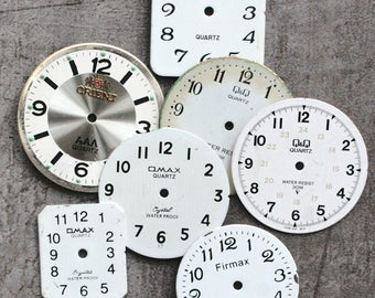 Wrist Watch Faces -- set of 7 -- D3