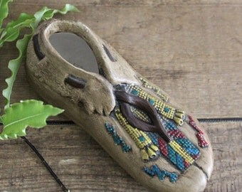Vintage Ceramic Moccasin Shoe/Planter
