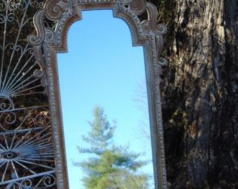 Ornate Mirror, Long Mirror, Curvy Mirror, Dressing Mirror, Vinatge Mirror, Size 53 inches Tall