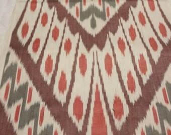 Uzbek cotton woven ikat fabric