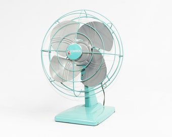 Vintage Fan Made by Dominion Seafoam Green